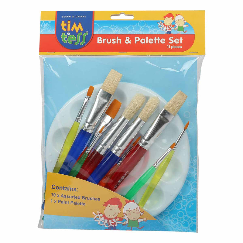 Tim & Tess Kids Brush & Palette Set 11pc