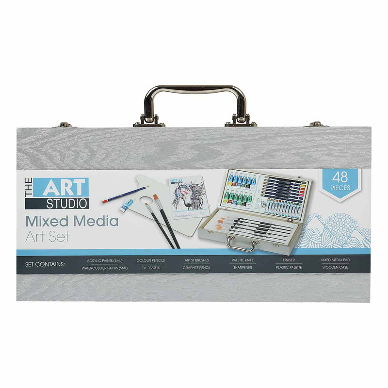 Art Studio 48pc Mixed Media Art Set