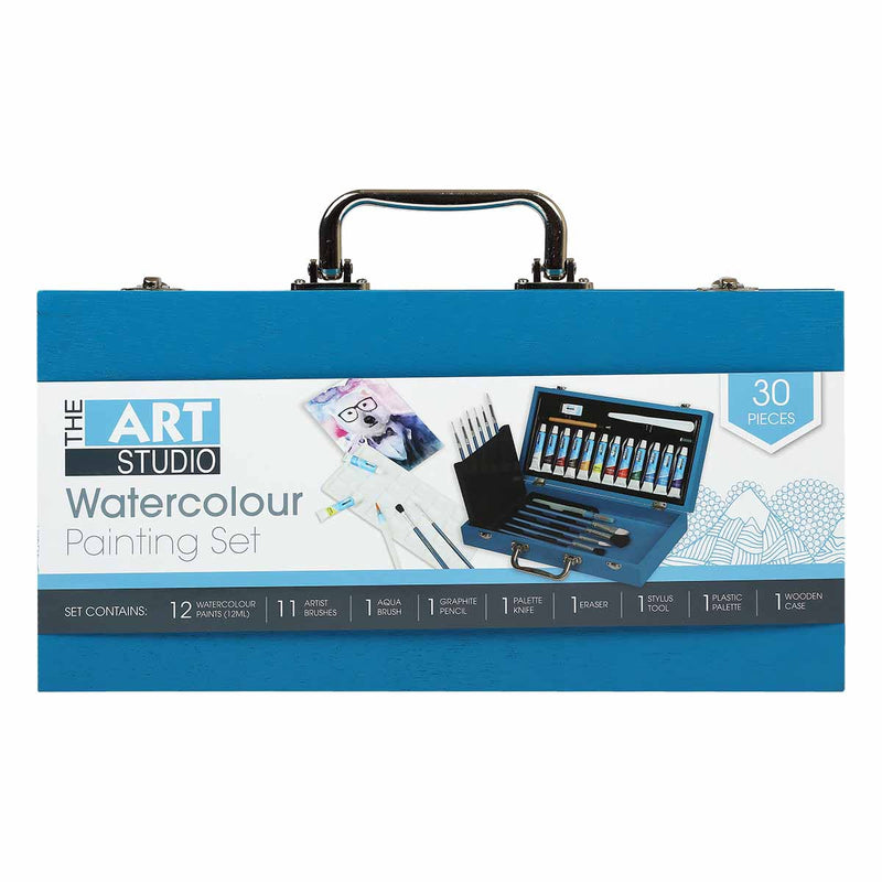 The Art Studio Watercolour Painting Set 30 Pieces