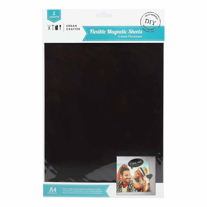 Urban Crafter A4 Flexible Magnetic Sheets 2 Pack