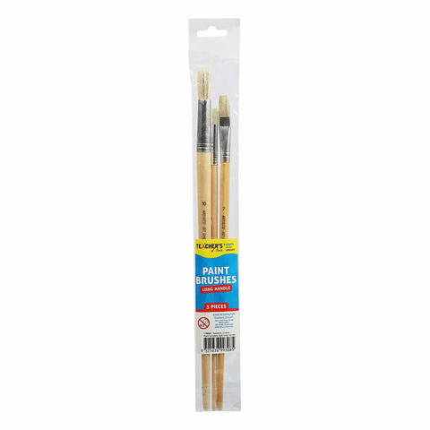 Teachers Choice Paint Brushes Pack 3 Long Handle