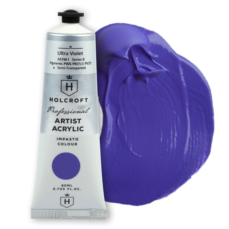 Holcroft Professional Acrylic Paint 80ml Ultra Violet S2