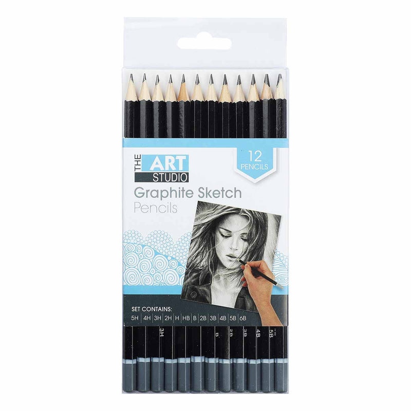 The Art Studio Graphite Sketching 5H - 6B Pencils 12 Pieces