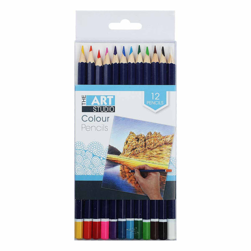 The Art Studio Coloured Pencils 12 Pieces