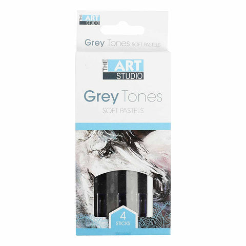 The Art Studio Soft Pastels Grey Tones 4 Pieces