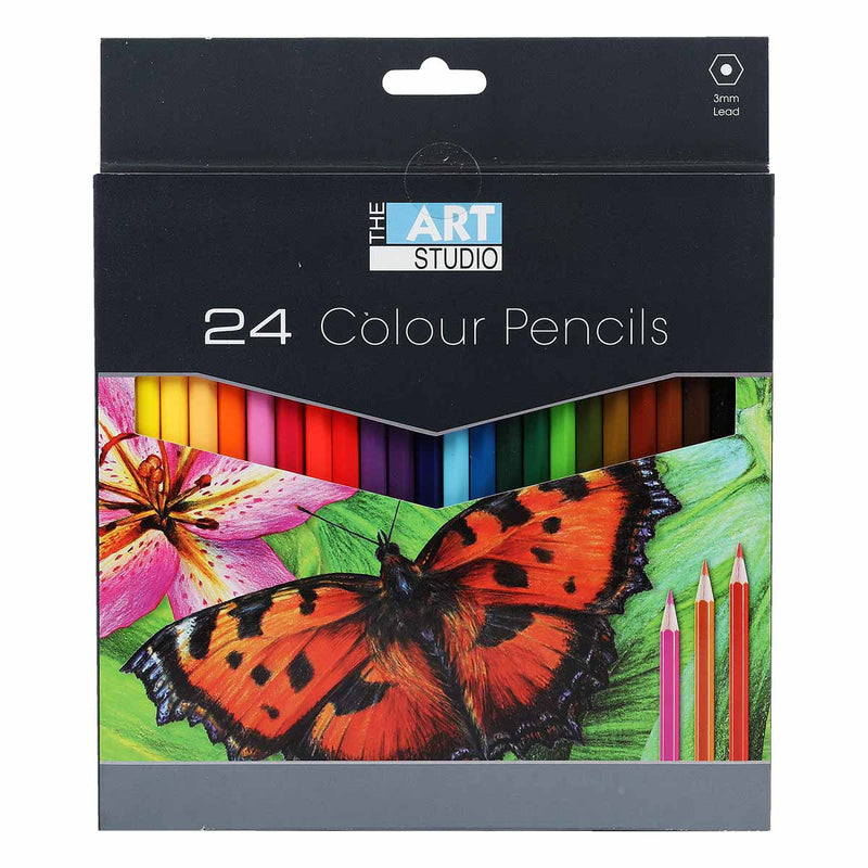 The Art Studio Colour Pencils 24 Colours