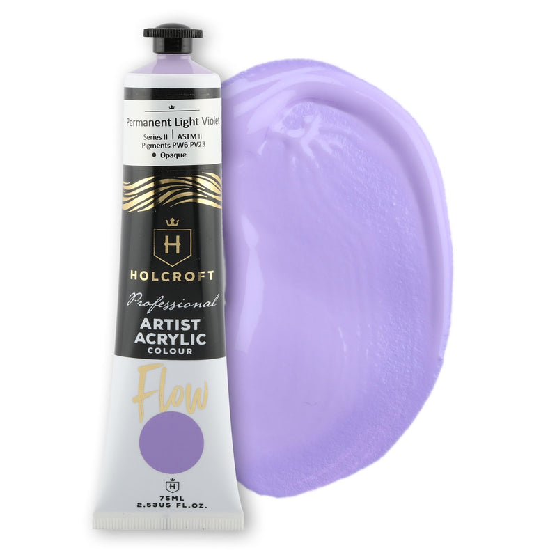 Holcroft Professional Acrylic Flow Paint 75ml Permanent Light Violet S2 ASTM2