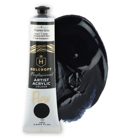 Holcroft Professional Acrylic Flow Paint 75ml Paynes Grey S2 ASTM1