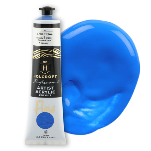 Holcroft Professional Acrylic Flow Paint 75ml Cobalt Blue S4 ASTM1
