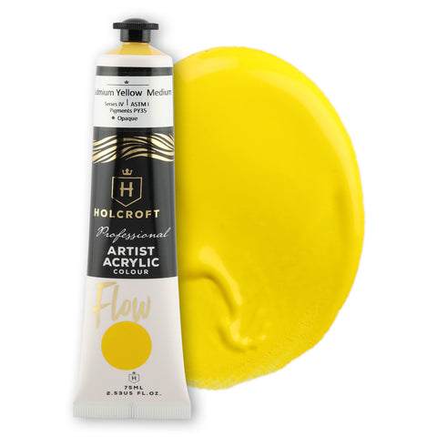 Holcroft Professional Acrylic Flow Paint 75ml Cadmium Yellow S4 ASTM1