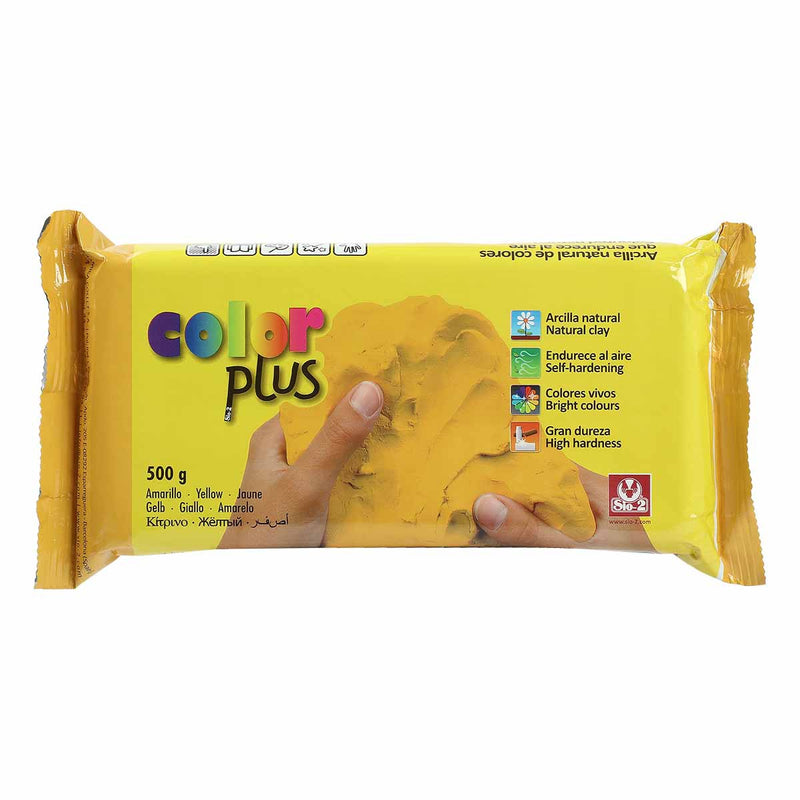 Colorplus Coloured Natural Self Hardening Clay Yellow
