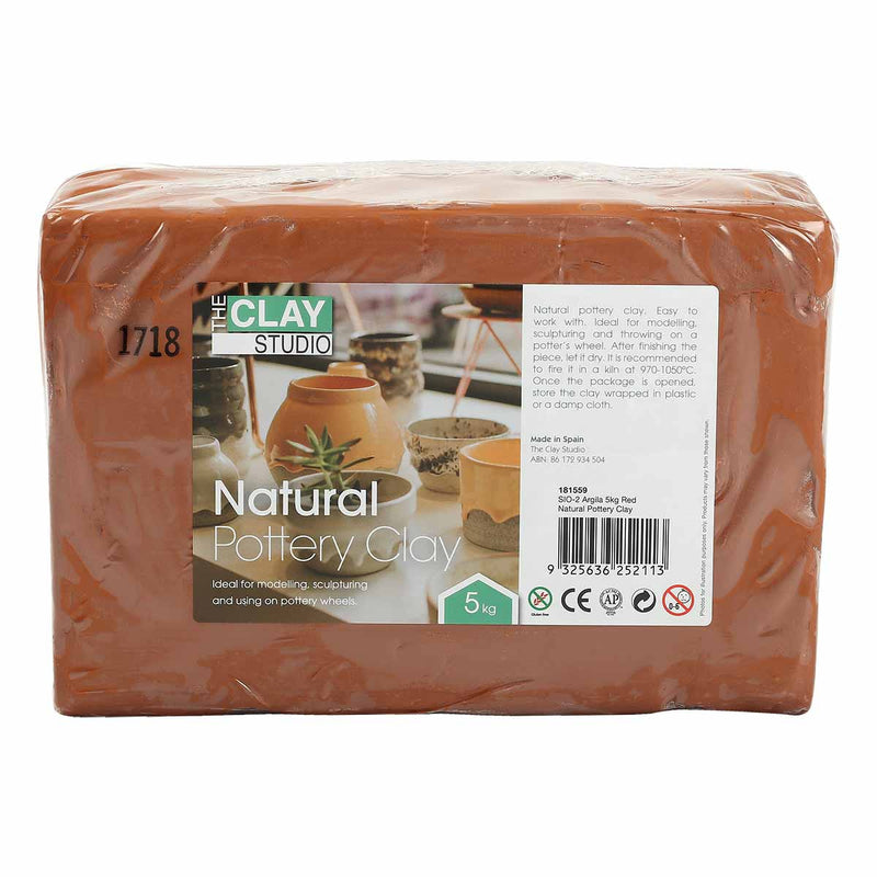 The Clay Studio Natural PotteryClay SIO-2 Argila 5kg Red