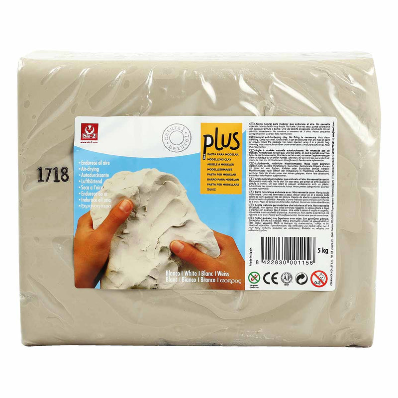 Plus Natural Self Harden Clay 5kg  White