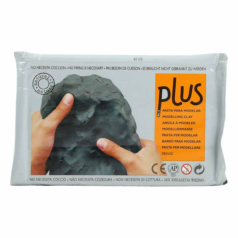 Plus Natural Self Harden Clay 1kg Black