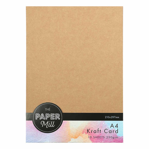 The Paper Mill A4 Kraft Cardstock 250gsm 10 Sheets