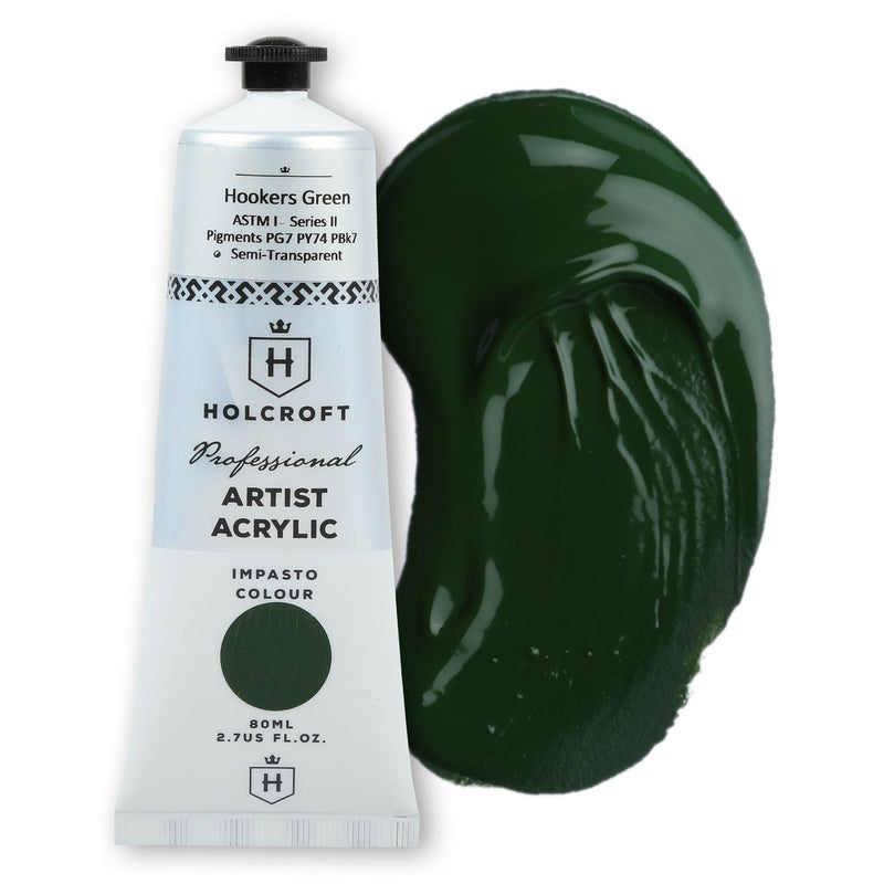 Holcroft Professional Acrylic Paint 80ml Hookers Green S2