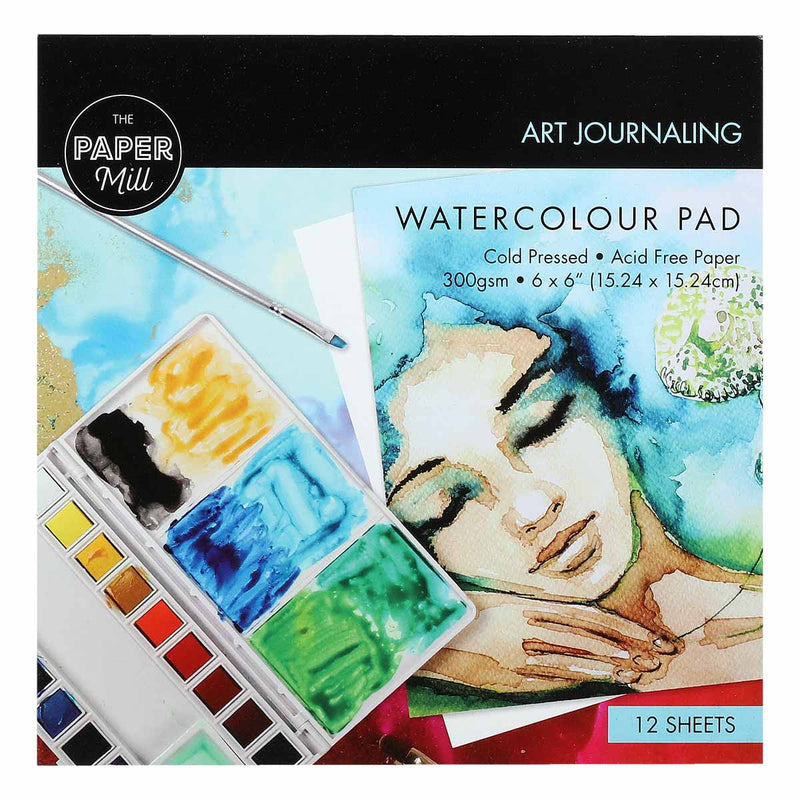 The Paper Mill Watercolour Pad 6 x 6inch 12 Sheets