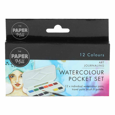 White Smoke The Paper Mill Watercolour Pocket Set 12 Colours Watercolour Paints