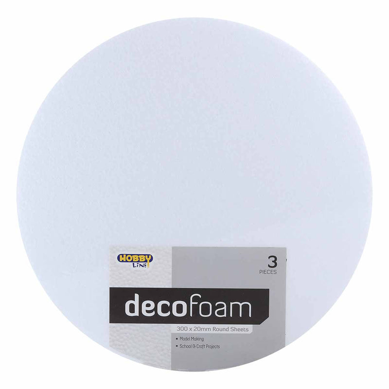 Decofoam Round Sheets 300 x 20mm 3 Pack