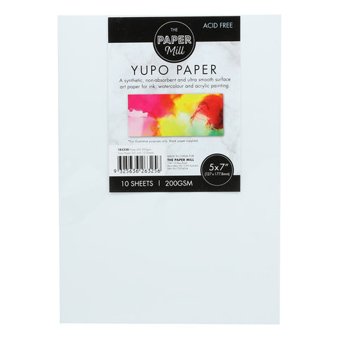 The Paper Mill Synthetic Paper 200gsm 5 x 7 Inches 10 Sheets