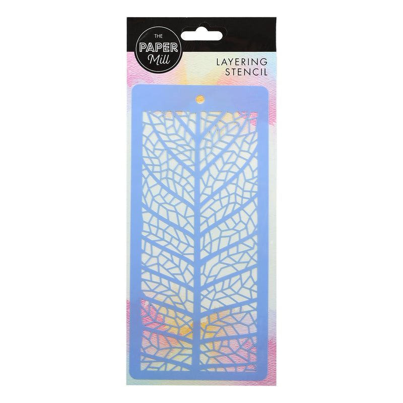 The Paper Mill Layering Stencil Skeleton Leaf