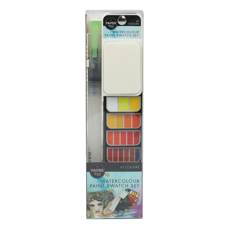 The Paper Mill Watercolour Swatch Set 42 Colours