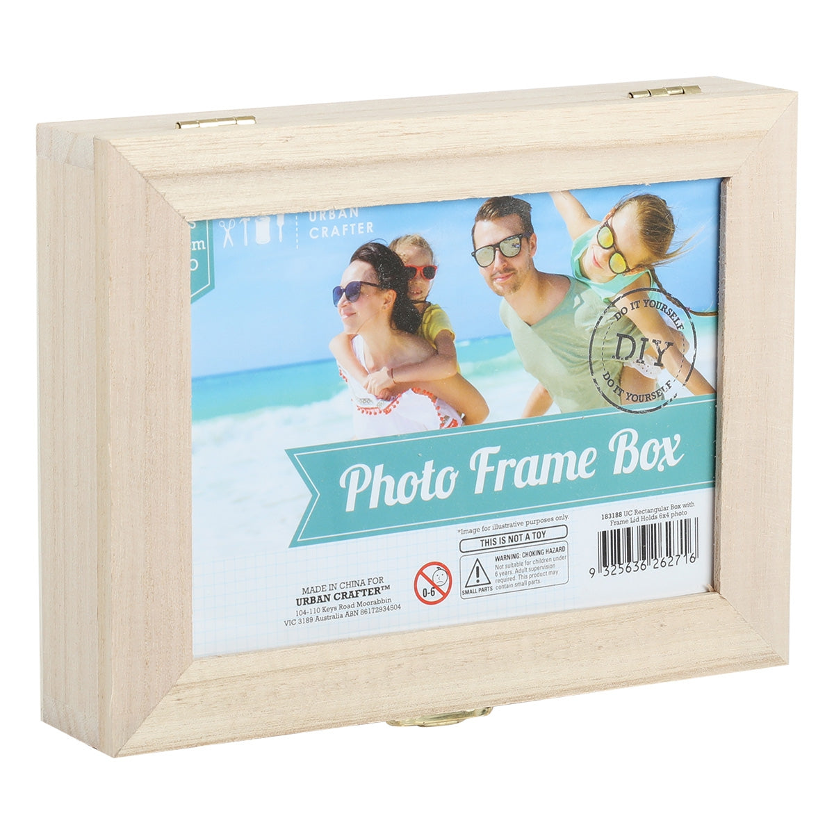 Image of Urban Crafter Rectangular Photo Frame Box Lid Holds 6 x 4 Photo