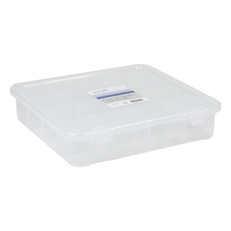 Craft Storage Box with Dividers 35.5x35.5x8.5cm