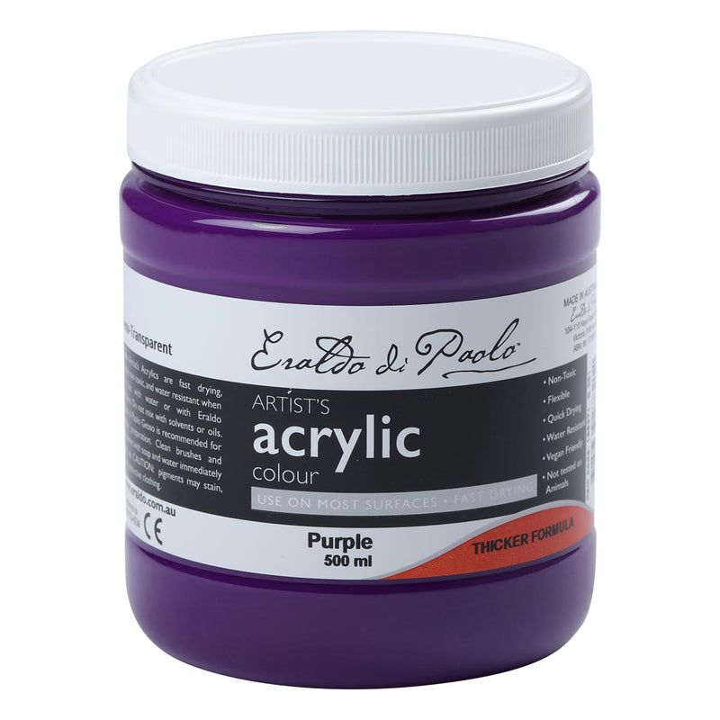 Dark Slate Gray Eraldo Di Paolo Acrylic Paint Purple 500ml Acrylic