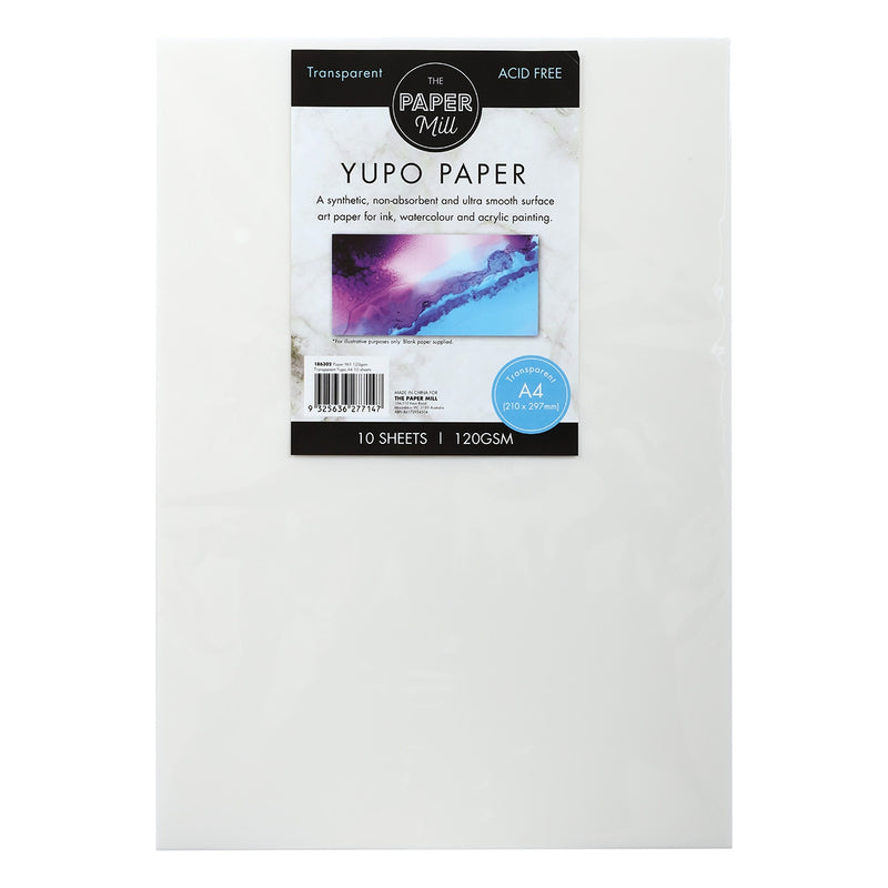 The Paper Mill Transparent Synthetic Paper A4 120gsm 10 sheetsts