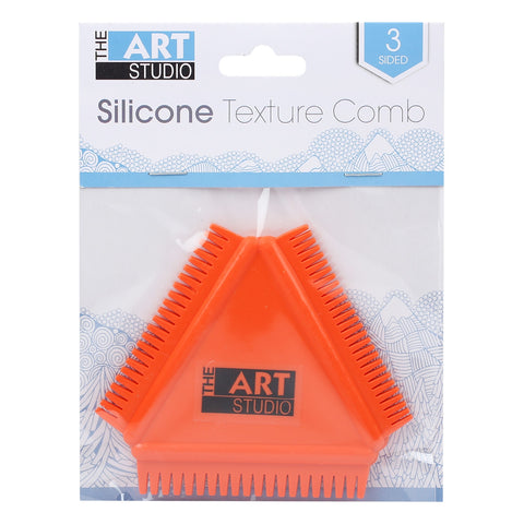 Art Studio 3 Sided Silicone Texture Comb 4x3.5in