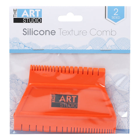 Art Studio 2 Sided Silicone Texture Comb 4.5x3in