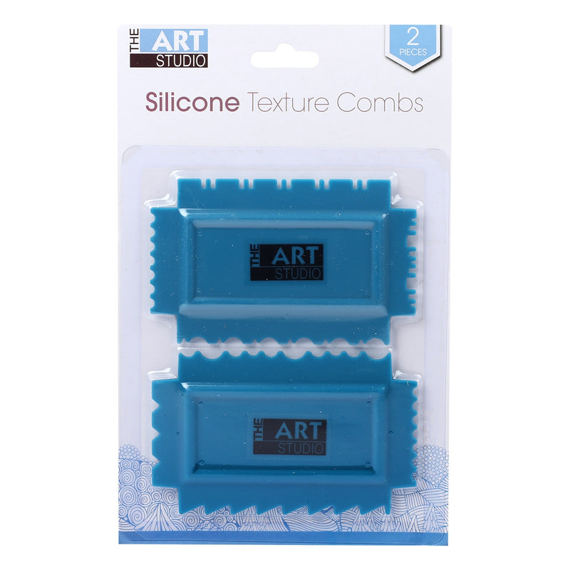 Art Studio Ornate 4 sided Texture Comb 4.5x2.75in