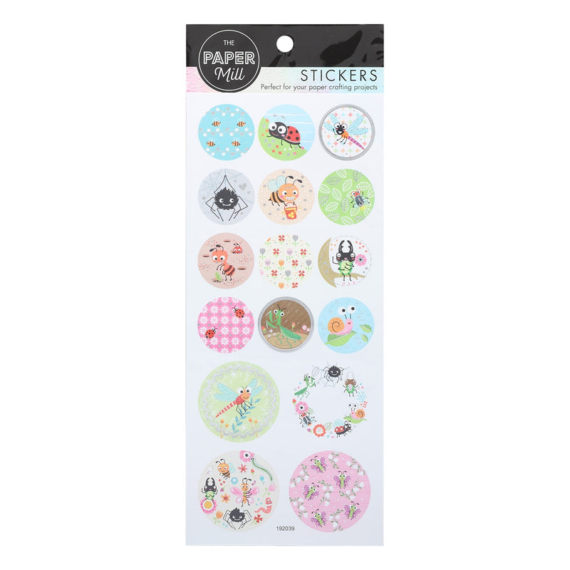 Paper Mill Foil Paper Stickers - Cute Insects