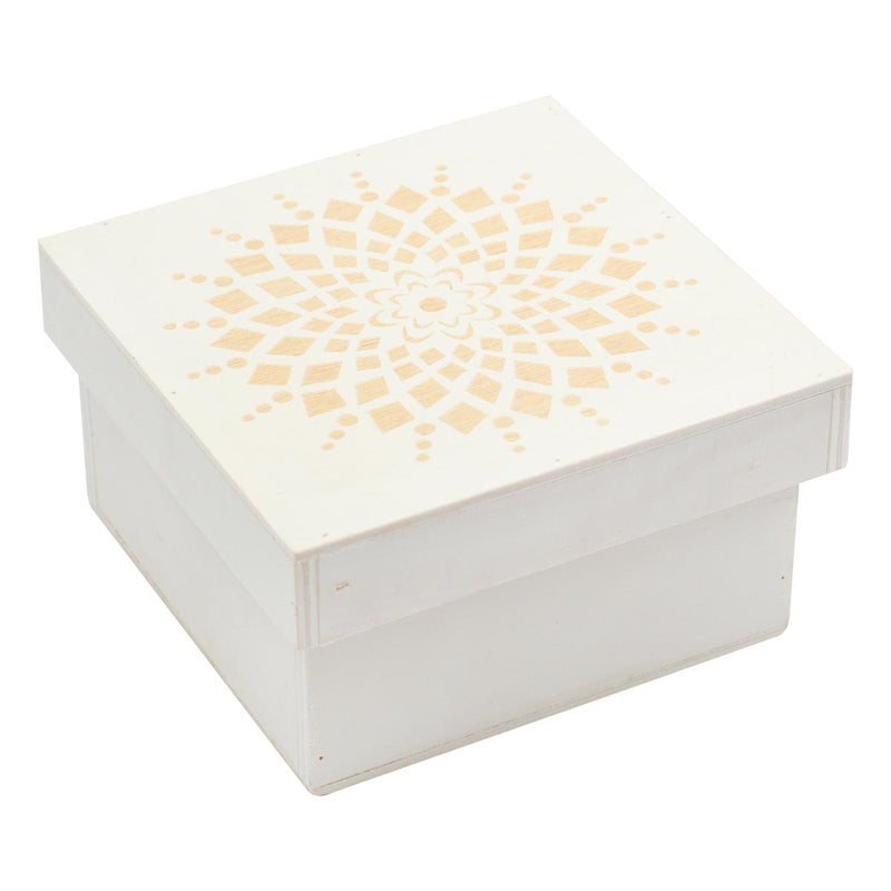 Urban Crafter Plywood Laser Cut Geo Circle Box