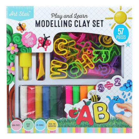 Art Star Non Dry Dough Box Set 57pieces