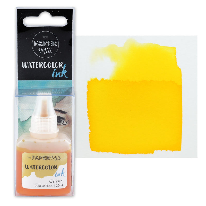 The Paper Mill Watercolour Ink Citrus 20ml