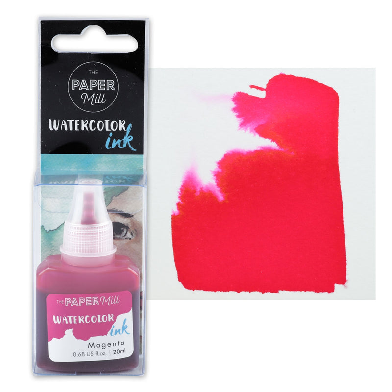 The Paper Mill Watercolour Ink Magenta 20ml