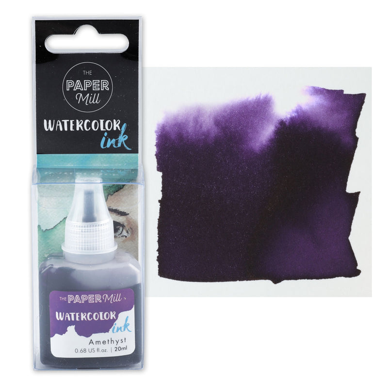 The Paper Mill Watercolour Ink Amethyst 20ml