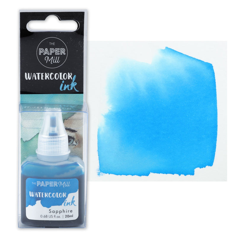 The Paper Mill Watercolour Ink Sapphire 20ml