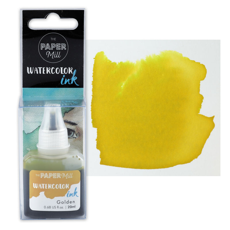 The Paper Mill Watercolour Ink Golden 20ml