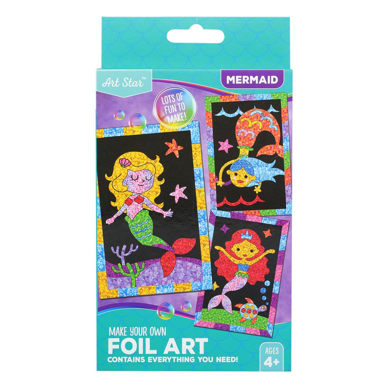 Art Star Foil Art Set Mermaid Makes 3