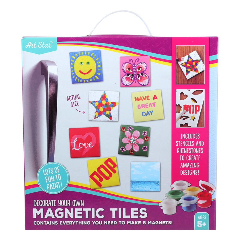 Maroon Art Star Decorate Your Own Magnetic Tiles Makes 8 Kids Kits