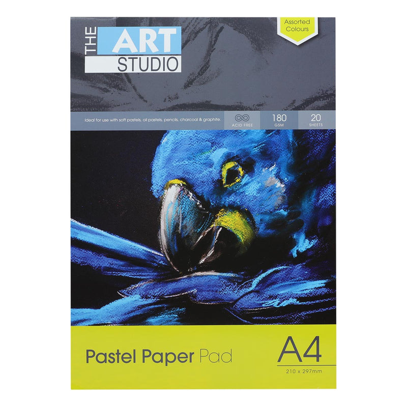 The Art Studio A4 Pastel Paper 180gsm 20 Sheets Assorted Colours