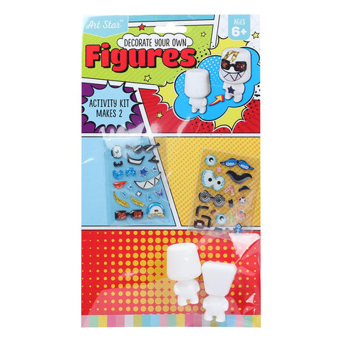 Artstar Decorate Your Own Figures Asst Design 2pk