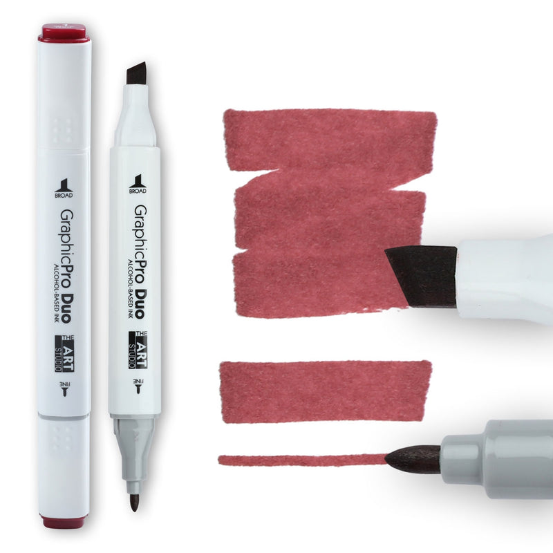 The Art Studio GraphicPro Duo Marker Wine Red