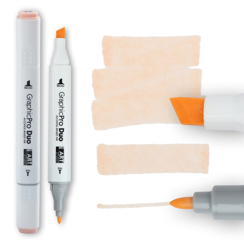 Bisque The Art Studio GraphicPro Duo Marker Salmon Pink Pens