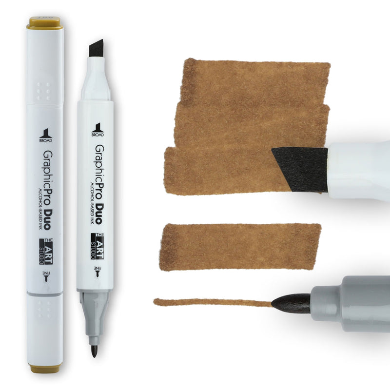 Sienna The Art Studio GraphicPro Duo Marker Walnut Pens