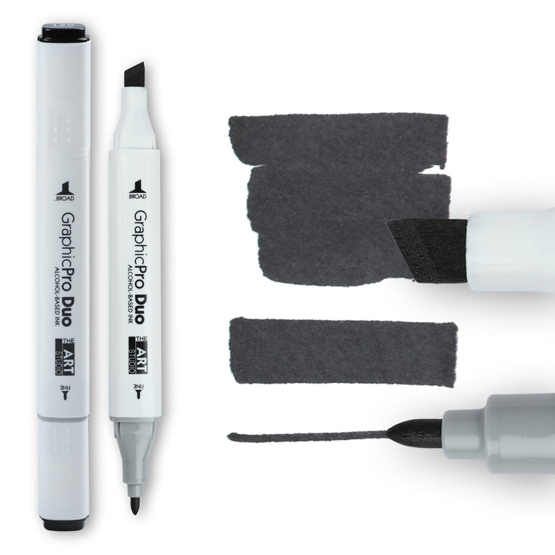 Dark Slate Gray The Art Studio GraphicPro Duo Marker Black Pens