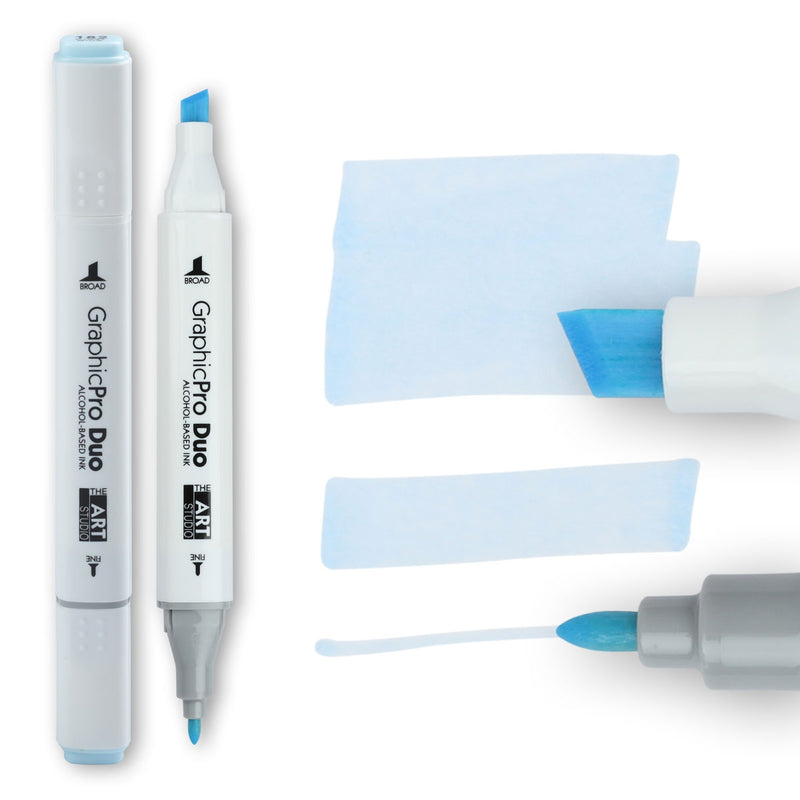 The Art Studio GraphicPro Duo Marker Frost Blue